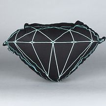 The Brilliant Pillow in Black and Diamond Blue by Diamond Supply Co.