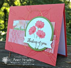Good morning! Can you believe that it's already time for the Create with Connie and Mary Thursday Challenge? We are exploring the brand new 2017-2018 Stampin' Up! catalog. Today we are using a picture from page 18. I'm using the layout for my card this week. Yes, the Daisy punch...