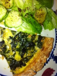 Lucy Burdette's chard tart at Mystery Lovers' Kitchen