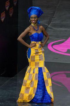 Miss Ghana's traditional dress attire
