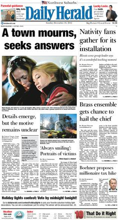 Daily Herald front page, Dec. 16, 2012