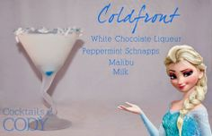 Disney Cocktails: Elsa and Anna #FROZEN Inspired Drinks