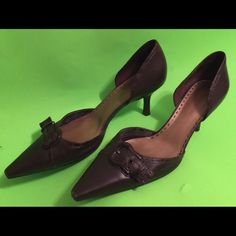FINAL PRICE DROP!!! Gianni Bini Pointed Toed Heels One of my favorite pair of shoes to dress up in. These shoes have a lot of life left. There is normal wear and tear on points and inside. See pictures. Gianni Bini Shoes Heels