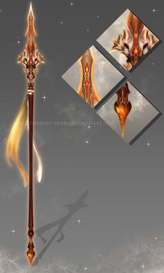 (CUSTOM) - Eldrvaryafeon Spear for Cinderfeng by Timothy-Henri.deviantart.com on @DeviantArt