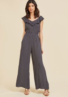 Compania Fantastica Zesty Impression Jumpsuit in XL - by Compania Fantastica from ModCloth Jumpsuit With Sleeves, Black Jumpsuit, Printed Jumpsuit, Pants Pattern, Overall, Asian Fashion, Modcloth, Womens Fashion, Outfits