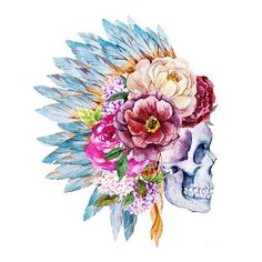 Sets water color skull temporary tattoos by TattooLifeStyle