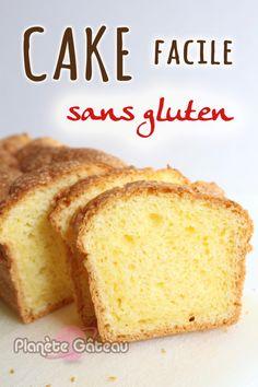 CAKE facile sans gluten - Blog Planete Gateau Flan Dessert, Patisserie Sans Gluten, Cornbread, Vanilla Cake, Quiche, Banana Bread, Easy, Gluten Free, Ethnic Recipes