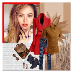 """Red style"" by janee-oss ❤ liked on Polyvore"