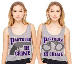 Partners In Crime Friend Besties Crop Tank Duo