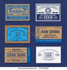 Find Vintage Denim Labels Typography Tshirt Graphics stock images in HD and millions of other royalty-free stock photos, illustrations and vectors in the Shutterstock collection. Thousands of new, high-quality pictures added every day. Vintage Denim, Vintage Tags, Vintage Labels, Vintage Graphic Design, Graphic Design Tips, Tag Design, Label Design, Garra, Levis
