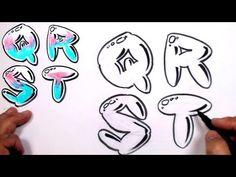 Graffiti Letters Alphabet Bubble Letters Alphabet Q R S T
