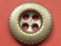 10 METALLKNÖPFE silber 15mm (5460-36x)Knopf Metall