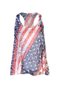 Beachcoco Women's American Flag Print Ra...