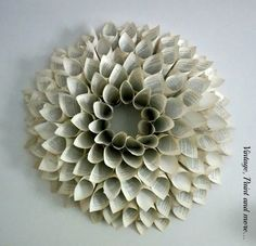 Vintage, Paint and more... how to make a wreath using pages from an old book