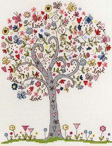 Love Tree Cross Stitch Kit XKA2