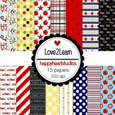 Digital Scrapbooking Love2Learn INSTANT DOWNLOAD by azredhead, $1.50