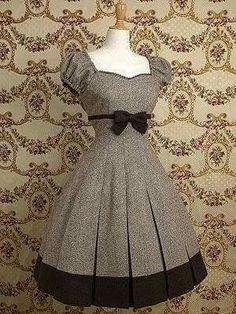 Vintage Moda Chic Style Ideas For 2019 Pretty Outfits, Pretty Dresses, Beautiful Dresses, Cute Outfits, Set Fashion, Lolita Fashion, Fashion Dresses, Vestidos Vintage, Vintage Dresses