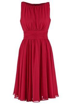 Cocktailkleid / festliches Kleid - braunrot/braunrot
