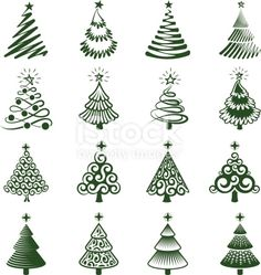 Christmas Trees icon Set Christmas Trees royalty free vector icon set Royalty Free christmas trees royalty free vector iconset stock vector art and more images of Abstract Christmas Drawing, Christmas Art, Christmas Cookies, Christmas Ornaments, How To Draw Christmas Tree, Christmas Icons, Christmas Tress, Whimsical Christmas, Clay Christmas Decorations