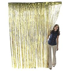 Give your event some extra pizzazz with this metallic gold fringe curtain! Foil fringe curtains make the perfect backdrops at parties or DIY photo booths, are . Diy Photo Booth, Photo Booth Backdrop, Photo Booths, Gold Backdrop, Backdrop Decor, Backdrop Wedding, Wedding Decoration, Photo Shoot, Foil Curtain