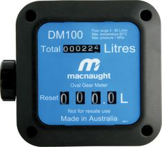 DM100 oil flow meter from Macnaught is suitable for the measurement of diesel, biodiesel, gas oil, kerosene and oils up to 1000 cps viscosity.