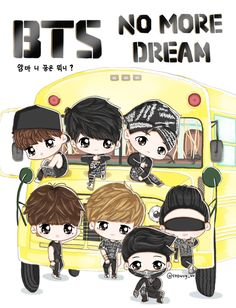 Chibi Boy, Bts Chibi, Bts School, Kpop Posters, Blackpink And Bts, Bts Drawings, Line Friends, Dream Art, South Korean Boy Band