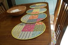 This needs brighter colors. : Quilted Placemats