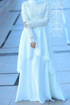 Muslim Wedding Gown, Malay Wedding Dress, Muslimah Wedding Dress, Muslim Wedding Dresses, Dress Muslimah, Wedding Abaya, Muslim Evening Dresses, Hijab Evening Dress, Hijab Bride