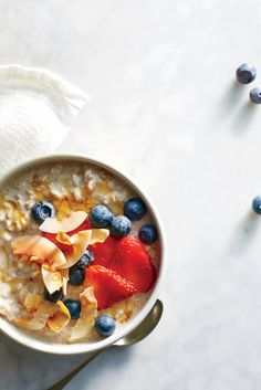 This toasted coconut oatmeal bowl is a great on-the-go breakfast and is also made probiotic-rich with the addition of kefir.  This bowl is best enjoyed cold becuase the active cultures in kefir are sensitive to heat. Resist the urge to microwave the oats, keeping it chilled for maximum benefits.