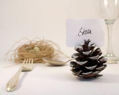 pinterst rustic silver christmas | Silver Pine Cone Escort Cards, Woodland Wedding, 20 ... | Wedding ide ...