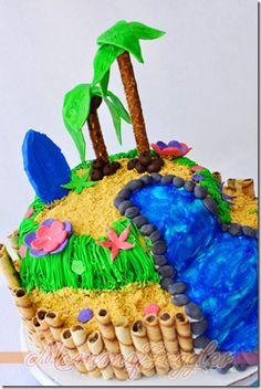 Luau Cake @WiltonCakes My fave cake I've ever made!
