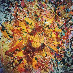 Tecnica mista su faesite, dett., 2014 Sunflower http://visionipoetiche.com/2014/07/26/979/