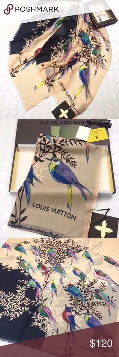 LOUIS VUITTON  Scarf shawl Our products are 100% true Brand new scarf, I've never used it. I'm a businessman, So everything I sell is the best, All scarves have boxes The arrival time is 8-10 days, If you can't accept this time, please don't buy it, because I'm rarely Online If you are not satisfied, you can call me Thanks LOUIS VUITTON Accessories Scarves & Wraps