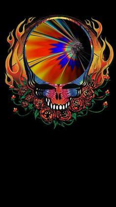 Grateful Dead Tattoo, Grateful Dead Image, Grateful Dead Poster, Trippy Tapestry, Psychedelic Tapestry, Psychedelic Music, Bridget Riley Op Art, Heavy Metal, Grateful Dead Wallpaper