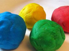 Use Play dough to make planets- this site shows how to make them the correct sizes.
