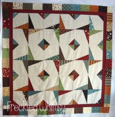 Java Stars « Moda Bake Shop--Hi ya Moda Bake Shoppers! It's me again, KarrieLyne from Freckled Whimsy, bringing you my Java Stars tutorial! This quilt was really fun to put together and I just love the illusion it gives!