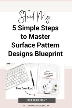 Follow my easy 5 step formula so you can create successful pattern designs (every single day) and build your own textile design or surface pattern design business. Take your art, illustrations and drawings and turn them into successful pattern repeats. #designtips, #patterndesign #printdesign #designresources Kids Patterns, Floral Patterns, Graphic Patterns, Textile Design, Fabric Design, Print Design, Pattern Designs, Surface Pattern Design, Inspiration For Kids