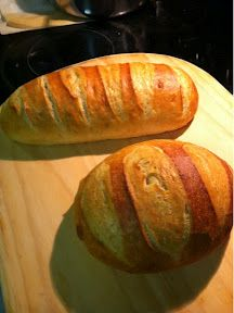 Quick and easy bread.  The master recipe from Artisan bread in 5 minutes a day.