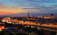 Firenze - Panoramica al Tramonto