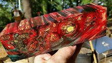 Stabilized  burl exotic wood knife scale  inlay pistol grip bottle stop