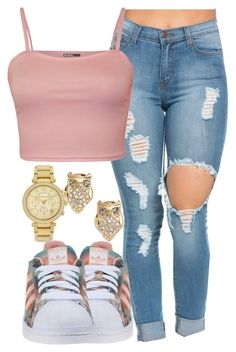 """""""851"""" by tuhlayjuh ❤ liked on Polyvore featuring WearAll, Michael Kors, adidas Originals and Kate Spade"""