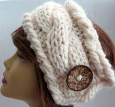 Pattern Knitting Pattern Chunky Headband by WomanOnTheWater, $3.00