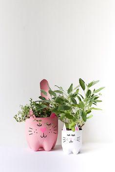Кашпо - горшки кошки (Diy) / Цветы, вазы и цветочные горшки / ВТОРАЯ УЛИЦА