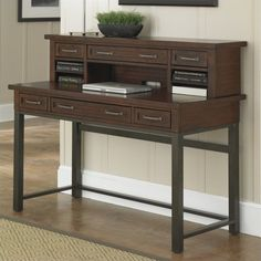 Home Styles Cabin Creek Executive Desk And Hutch ($617) ❤ Liked On Polyvore  Featuring