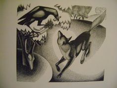 Woodcut. Agnes Miller Parker