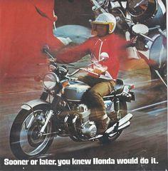 Honda CB750 1969 Original Motorcycle Brochure CMM7