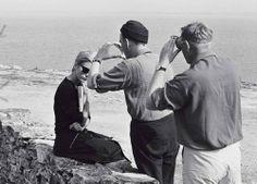 PERSONA. set Bibi Andersson, Ingmar Bergman, Sven Nykvist