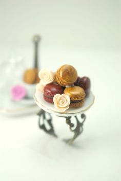 tiny macarons on a ring.