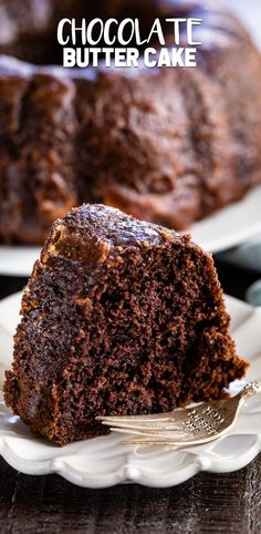 Chocolate Butter Cake is a rich chocolate cake that start with a cake mix. It's full of butter and has a gooey chocolate butter sauce poured all over the top. This is the perfect easy cake recipe! Chocolate Butter Cake, Chocolate Cake From Scratch, Chocolate Desserts, Vegan Desserts, Cake Mix Recipes, Pound Cake Recipes, Baking Recipes, Dessert Recipes, Baking Ideas