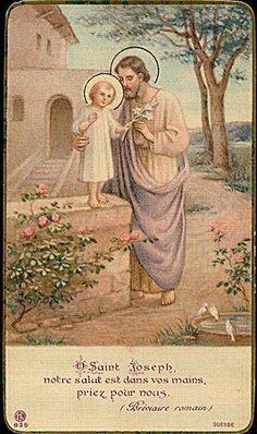 O Saint Joseph - Image pieuse / Holy card / Heiligenbild   Flickr: Intercambio de fotos